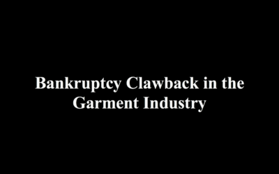 Bankruptcy Clawback in the Garment Industry